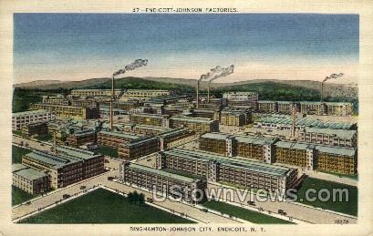 Johnson Factories - Endicott, New York NY Postcard