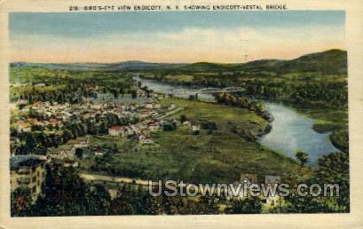 Vestal Bridge - Endicott, New York NY Postcard
