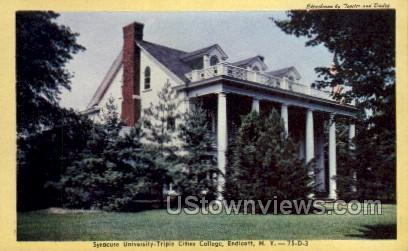 Syracuse University - Endicott, New York NY Postcard