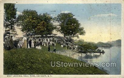 Ideal Park - Endicott, New York NY Postcard