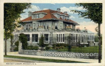 Library - Endicott, New York NY Postcard