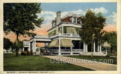 George F. Johnson Residence - Endicott, New York NY Postcard