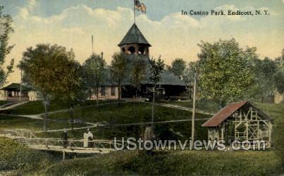 Casino Park - Endicott, New York NY Postcard
