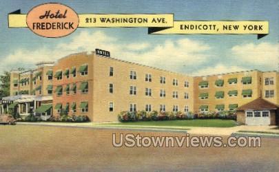 Hotel Frederick - Endicott, New York NY Postcard