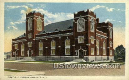 First M.E. Church - Endicott, New York NY Postcard