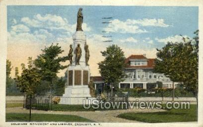 Soldiers' Monument - Endicott, New York NY Postcard