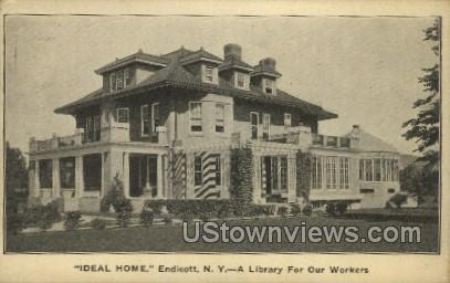 Ideal Home - Endicott, New York NY Postcard