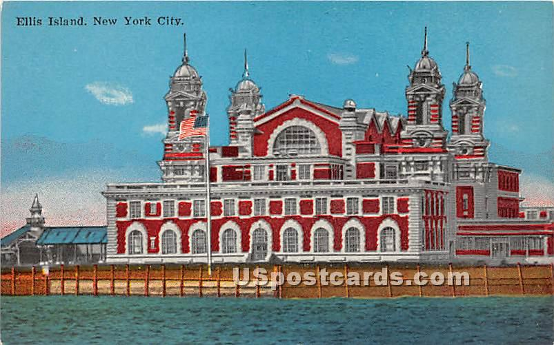 Ellis Island, New York NY Postcard