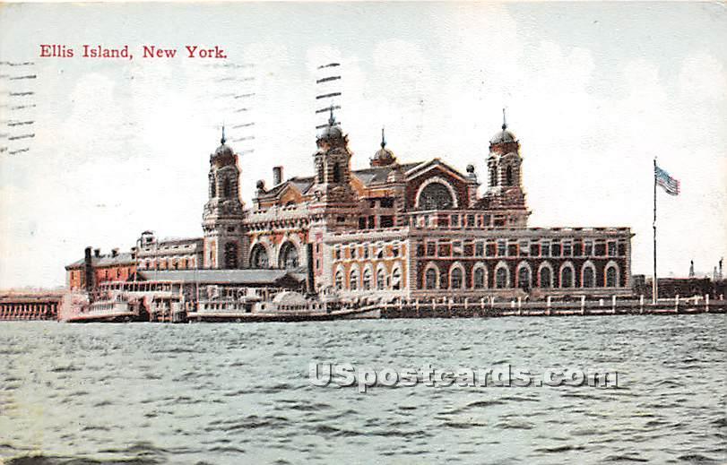 Ellis Island, New York NY Postcard