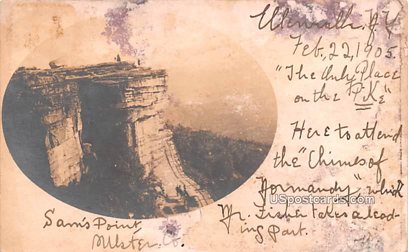 Sam's Point - Ellenville, New York NY Postcard