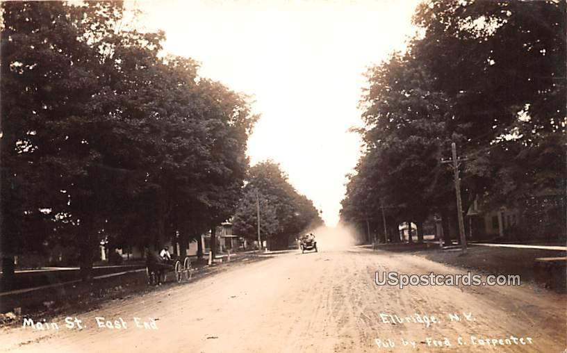 Main Street - Elbridge, New York NY Postcard