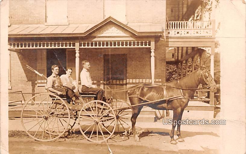 Horse and Carriage - Elbridge, New York NY Postcard