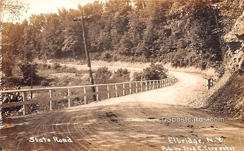 State Road - Elbridge, New York NY Postcard