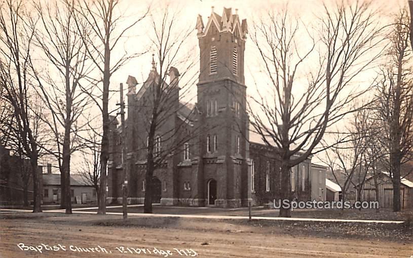 Baptist Church - Elbridge, New York NY Postcard