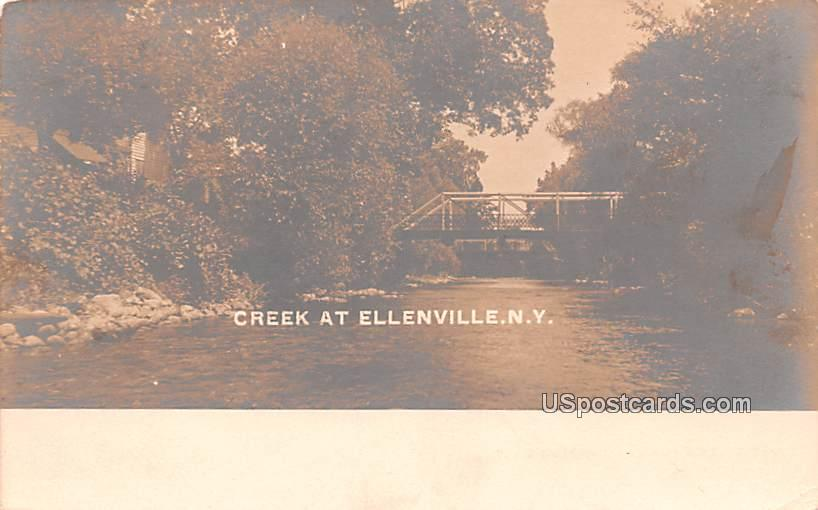 Creek - Ellenville, New York NY Postcard