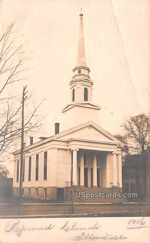 Reformed Church - Ellenville, New York NY Postcard
