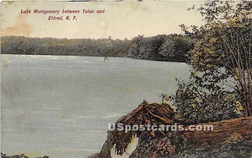 Lake Montgomery - Eldred, New York NY Postcard