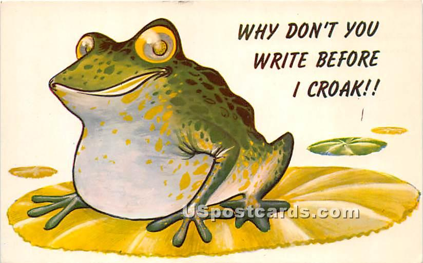 Why don't you write before I Croak - Eldred, New York NY Postcard