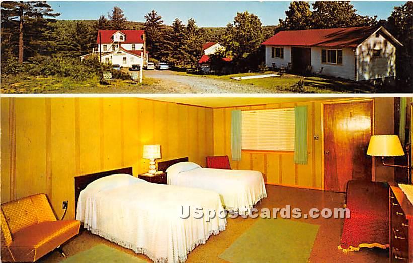 Under the Pines Hotel Motel - Eldred, New York NY Postcard