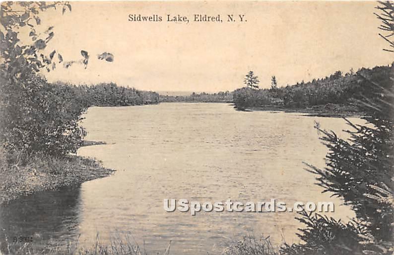 Sidwells Lake - Eldred, New York NY Postcard
