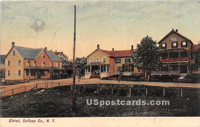 WH Wilson, Hotel - Eldred, New York NY Postcard