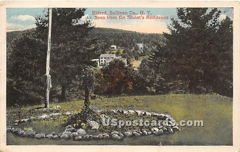 Seen from the Slonet's Residence - Eldred, New York NY Postcard
