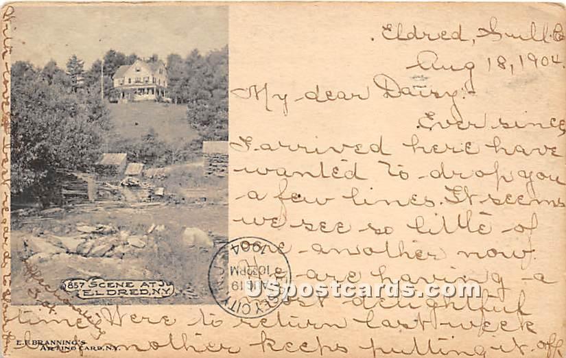 Scene - Eldred, New York NY Postcard