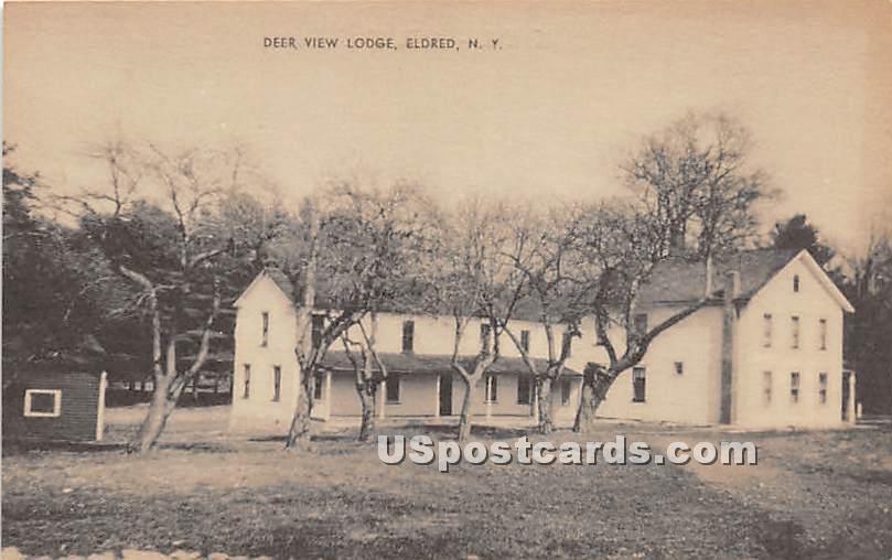 Deer View Lodge - Eldred, New York NY Postcard