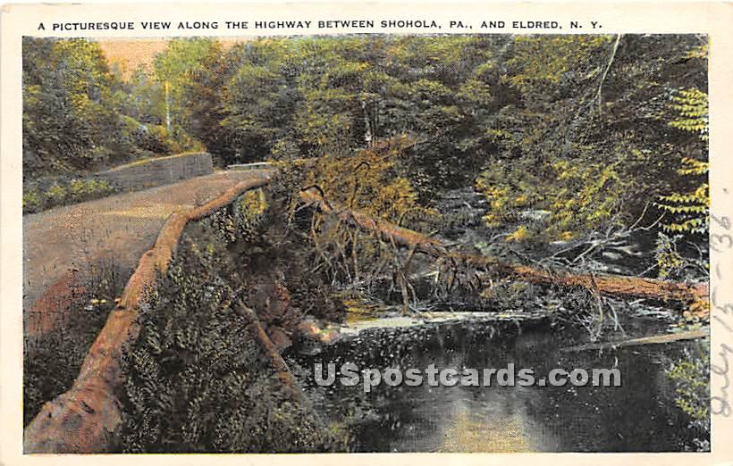 Along the Highway - Eldred, New York NY Postcard