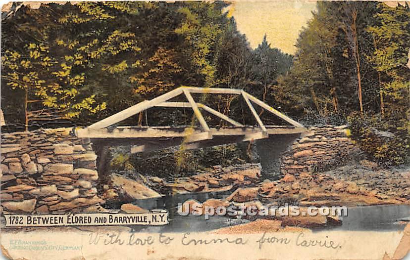 Bridge - Eldred, New York NY Postcard