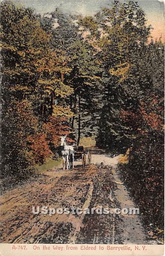 On the Way - Eldred, New York NY Postcard