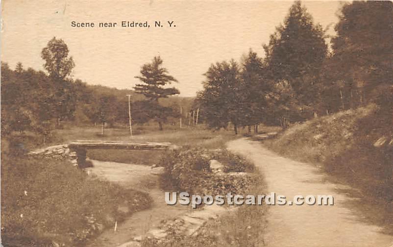 Stream Scene - Eldred, New York NY Postcard