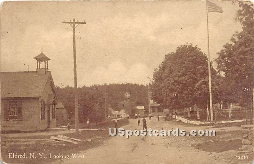 Looking West - Eldred, New York NY Postcard