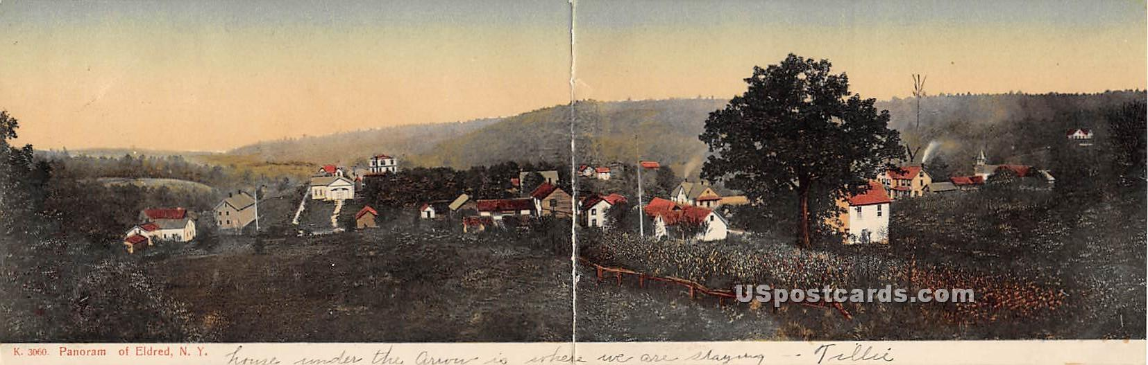 Panorama double postcard - Eldred, New York NY