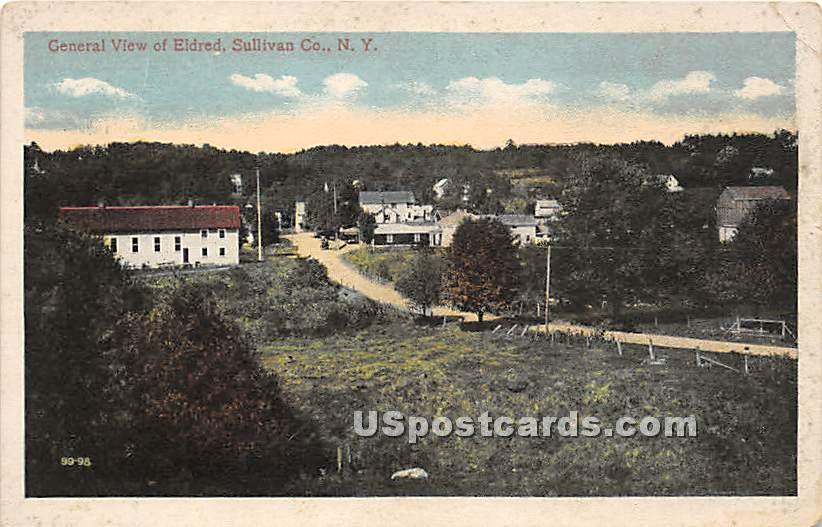 General View - Eldred, New York NY Postcard