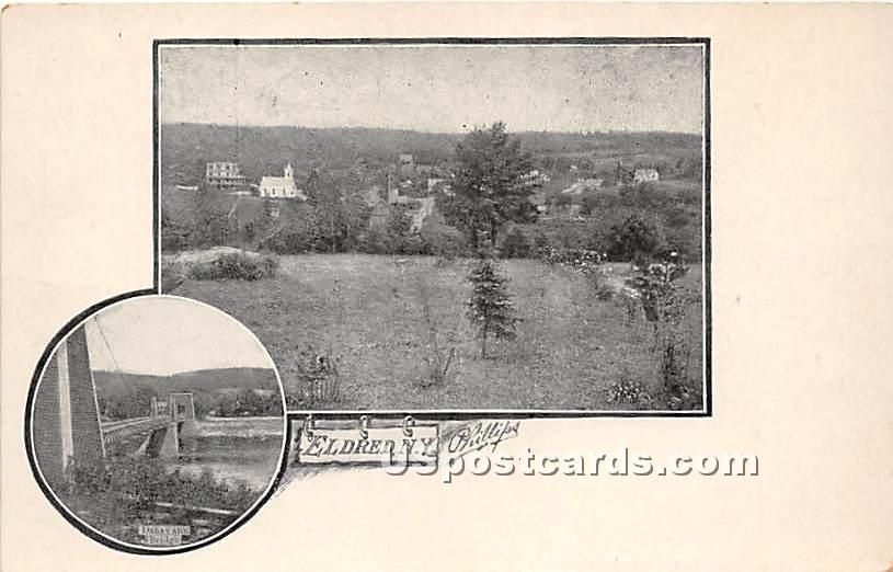 Delaware Bridge - Eldred, New York NY Postcard