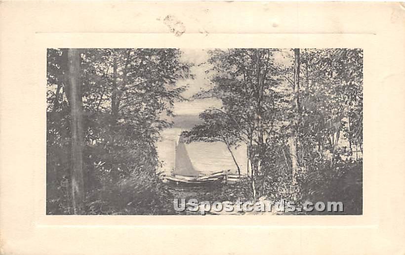 Lake View - Eldred, New York NY Postcard