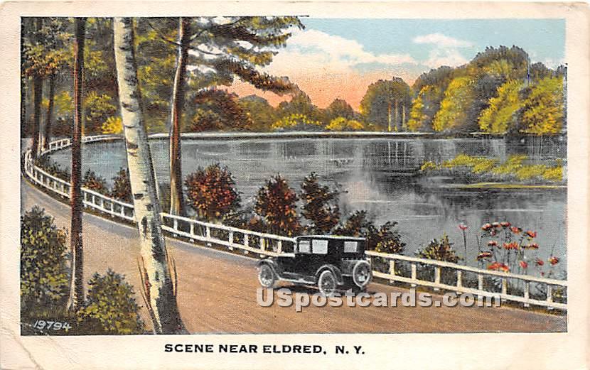 Water Scene - Eldred, New York NY Postcard