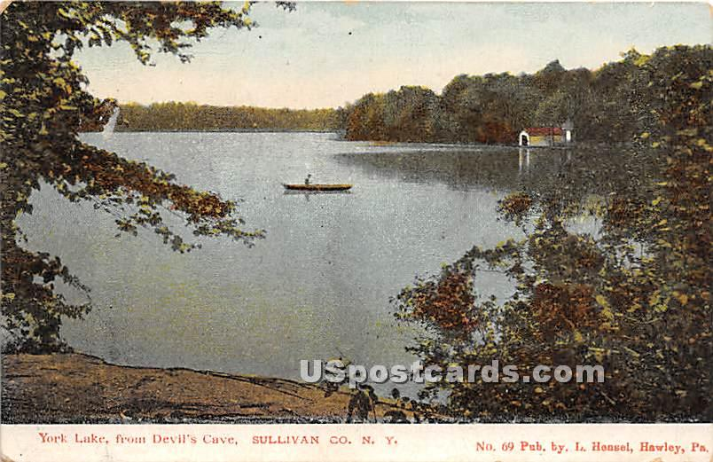 York Lake - Eldred, New York NY Postcard