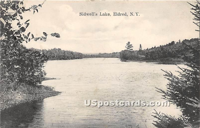 Sidwell's Lake - Eldred, New York NY Postcard
