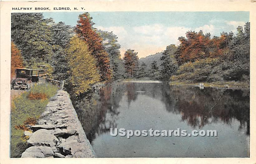 Halfway Brook - Eldred, New York NY Postcard