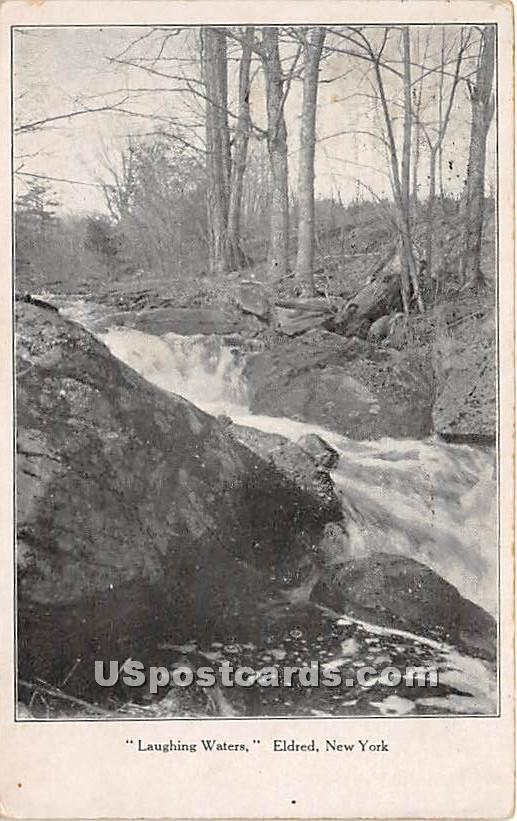 Laughing Waters - Eldred, New York NY Postcard