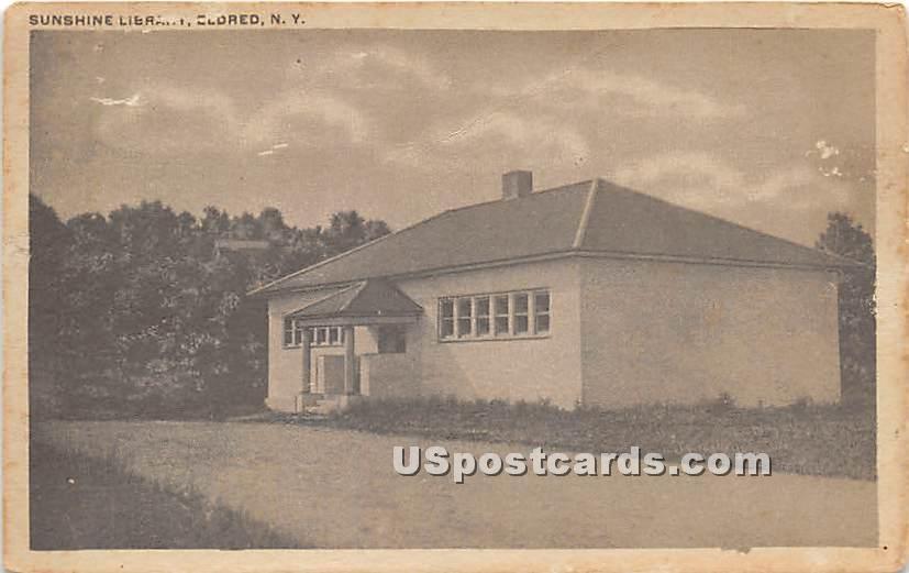 Sunshine Library - Eldred, New York NY Postcard