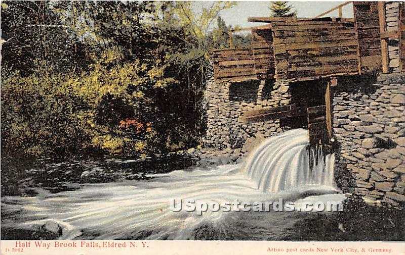 Half Way Brook Falls - Eldred, New York NY Postcard