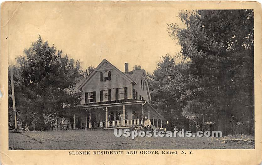 Slonek Residence and Grove - Eldred, New York NY Postcard