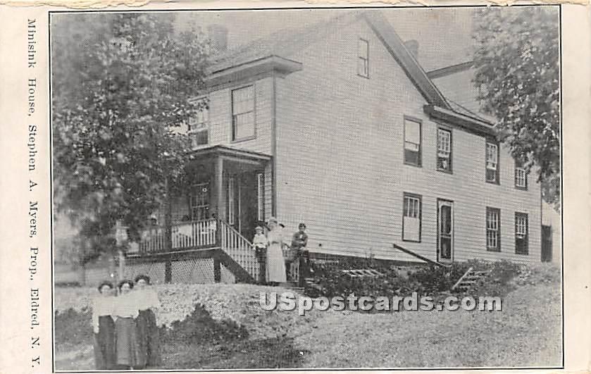 Minisink House - Eldred, New York NY Postcard