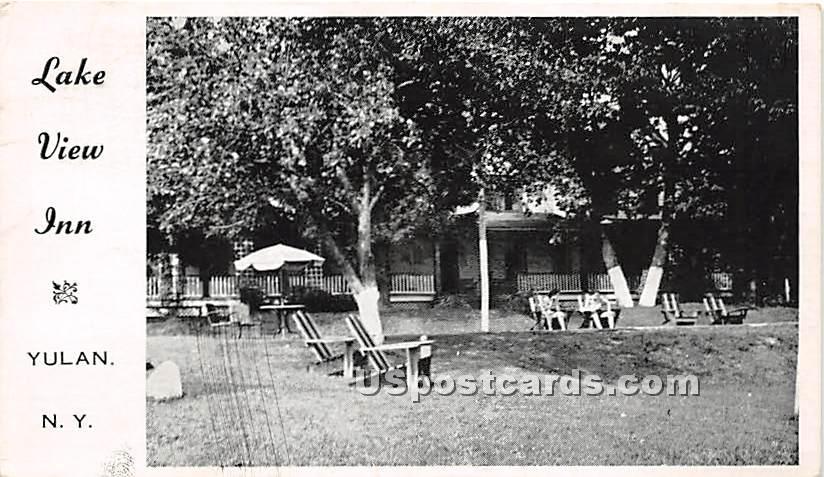 Lake View Inn - Eldred, New York NY Postcard