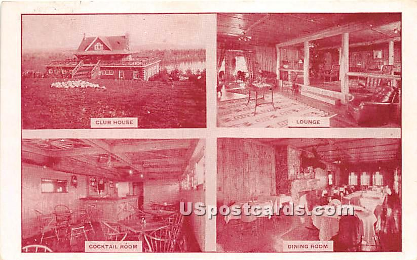 Club House, Lounge, Cocktail Room, Dining Room - Eldred, New York NY Postcard