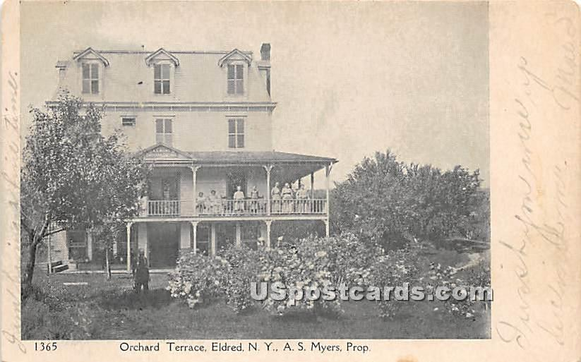 Orchard Terrace - Eldred, New York NY Postcard