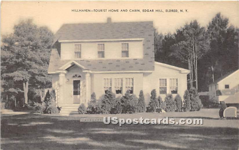 Hillhaven Tourist Home and Cabin - Eldred, New York NY Postcard